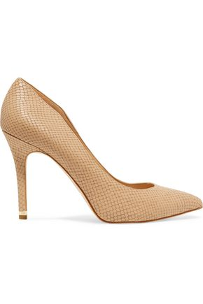 MICHAEL MICHAEL KORS Arianna lizard-effect leather pumps