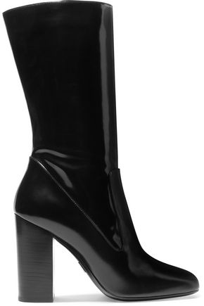 MICHAEL KORS COLLECTION Agatha glossed-leather boots