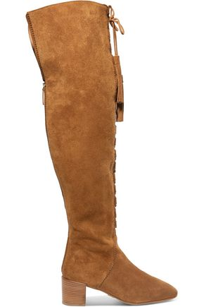 MICHAEL KORS COLLECTION Harris embellished suede over-the-knee boots