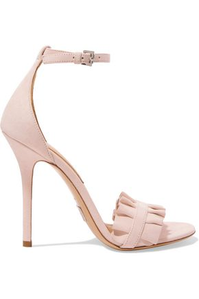 MICHAEL KORS COLLECTION Ruffle-trimmed suede sandals