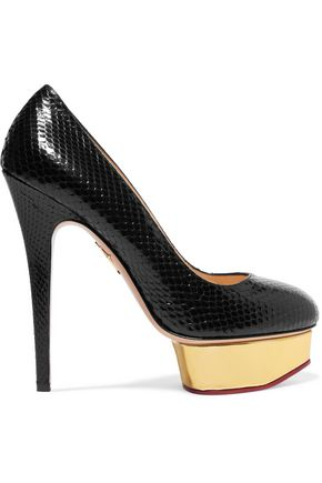 CHARLOTTE OLYMPIA Dolly python pumps