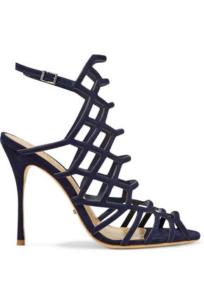 SCHUTZ Juliana cutout nubuck sandals