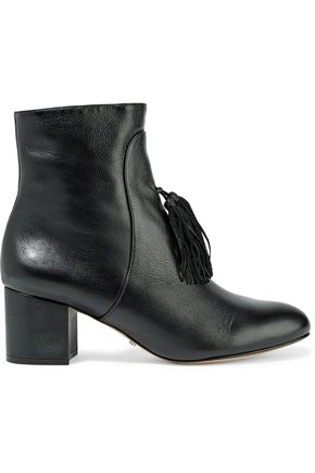 SCHUTZ Aleesa suede tassled leather ankle boots