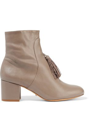 SCHUTZ Aleesa tasseled leather ankle boots