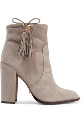 SCHUTZ Bishop tasseled suede ankle boots