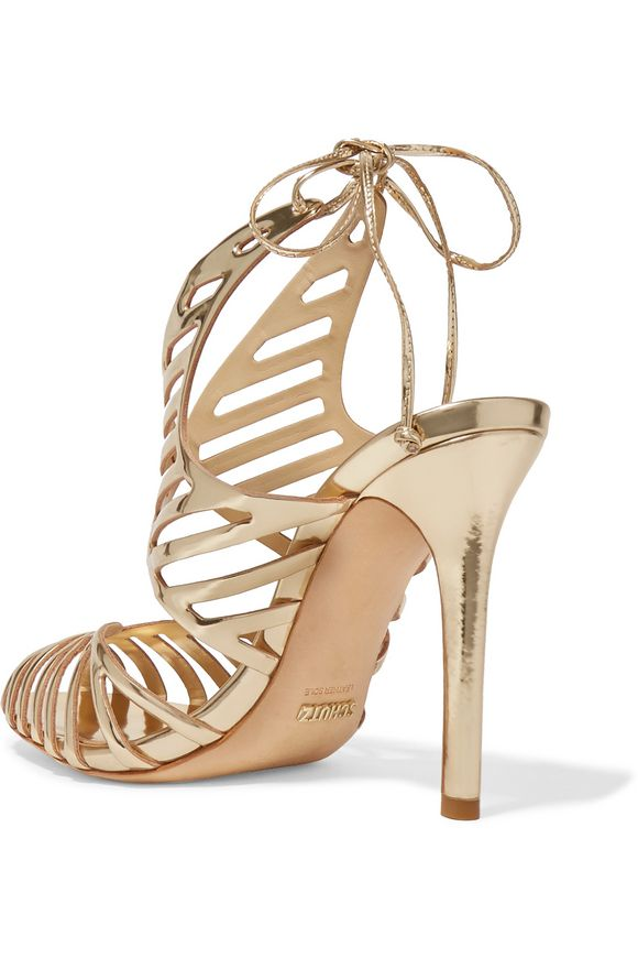 Cutout mirrored leather sandals   SCHUTZ   Sale up to 70% off   THE OUTNET