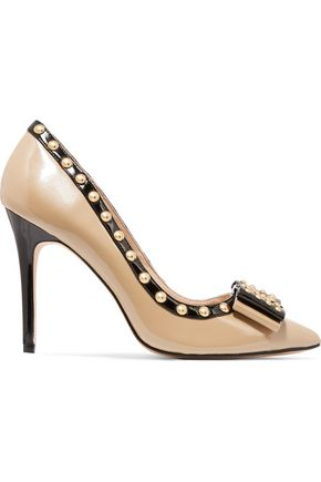 LUCY CHOI London Benvolio studded patent-leather pumps