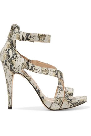 LUCY CHOI London Cole snake-effect leather sandals