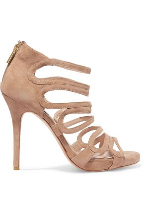 LUCY CHOI London Romeo cutout suede sandals