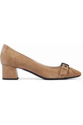 BOTTEGA VENETA Buckled suede pumps
