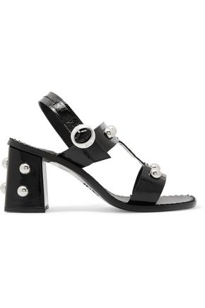 SONIA RYKIEL Studded patent-leather sandals