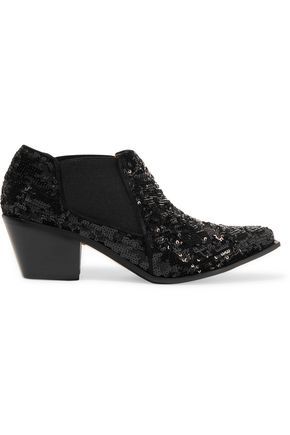 SONIA RYKIEL Sequined leather boots