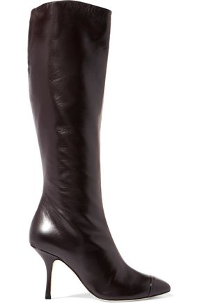 GIUSEPPE ZANOTTI Glossed-leather knee boots