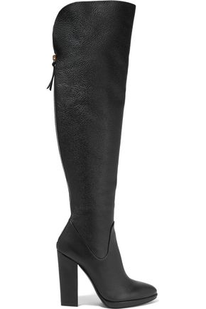 GIUSEPPE ZANOTTI Textured-leather over-the-knee boots