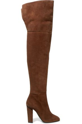 GIUSEPPE ZANOTTI Suede thigh boots