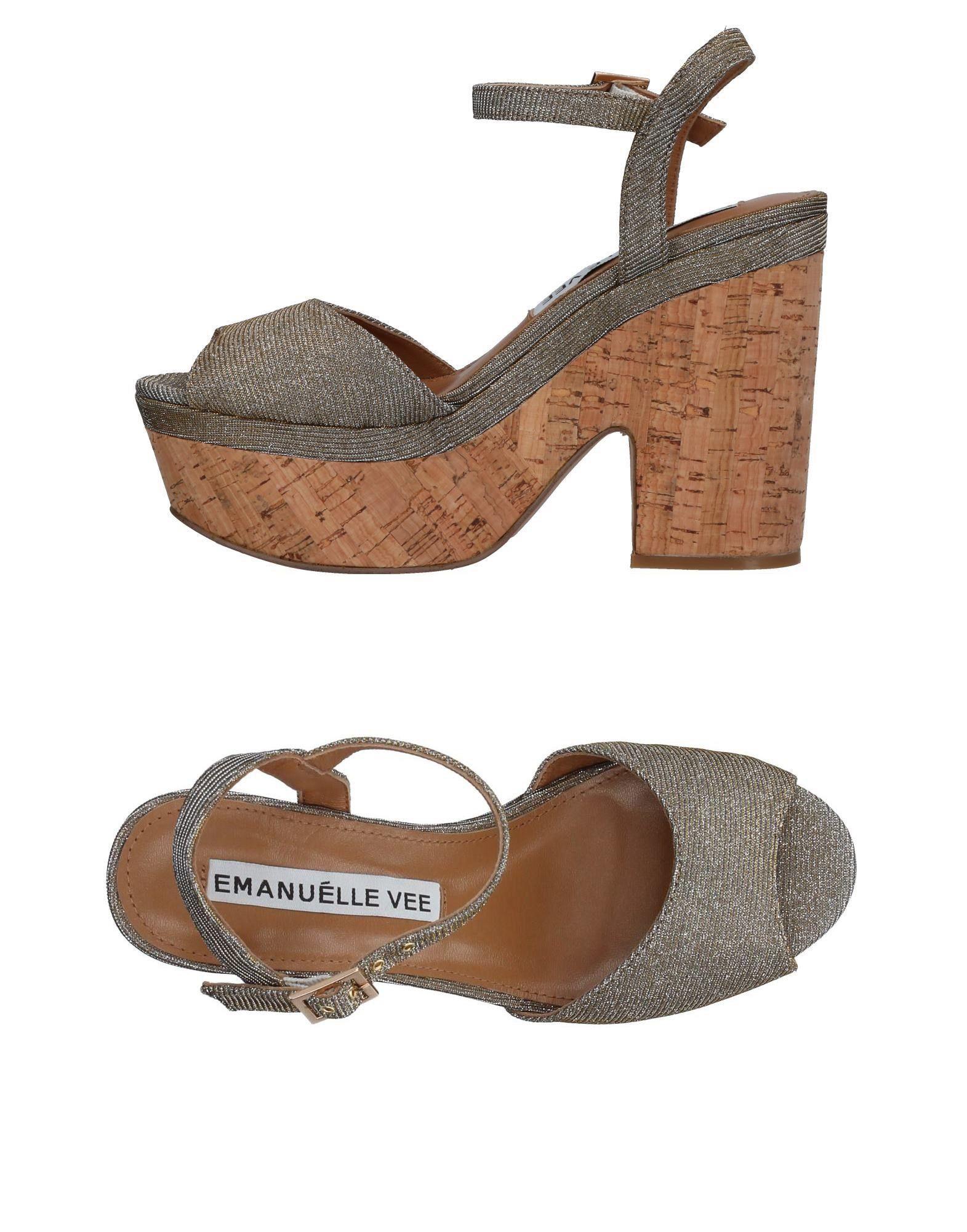 EMANUÉLLE VEE Damen Sandale Farbe Silber Größe 11 jetztbilligerkaufen