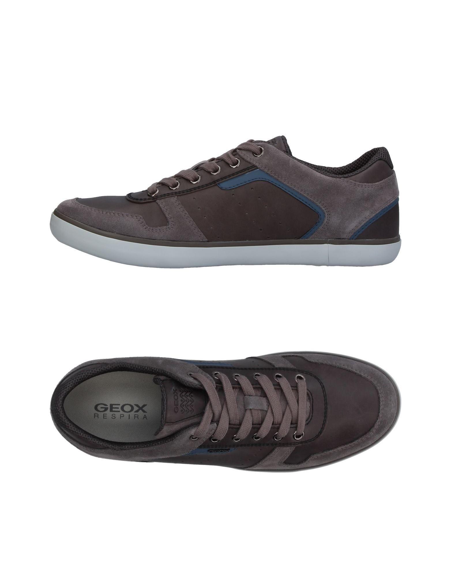 GEOX Herren Low Sneakers & Tennisschuhe Farbe Blei Größe 9 jetztbilligerkaufen