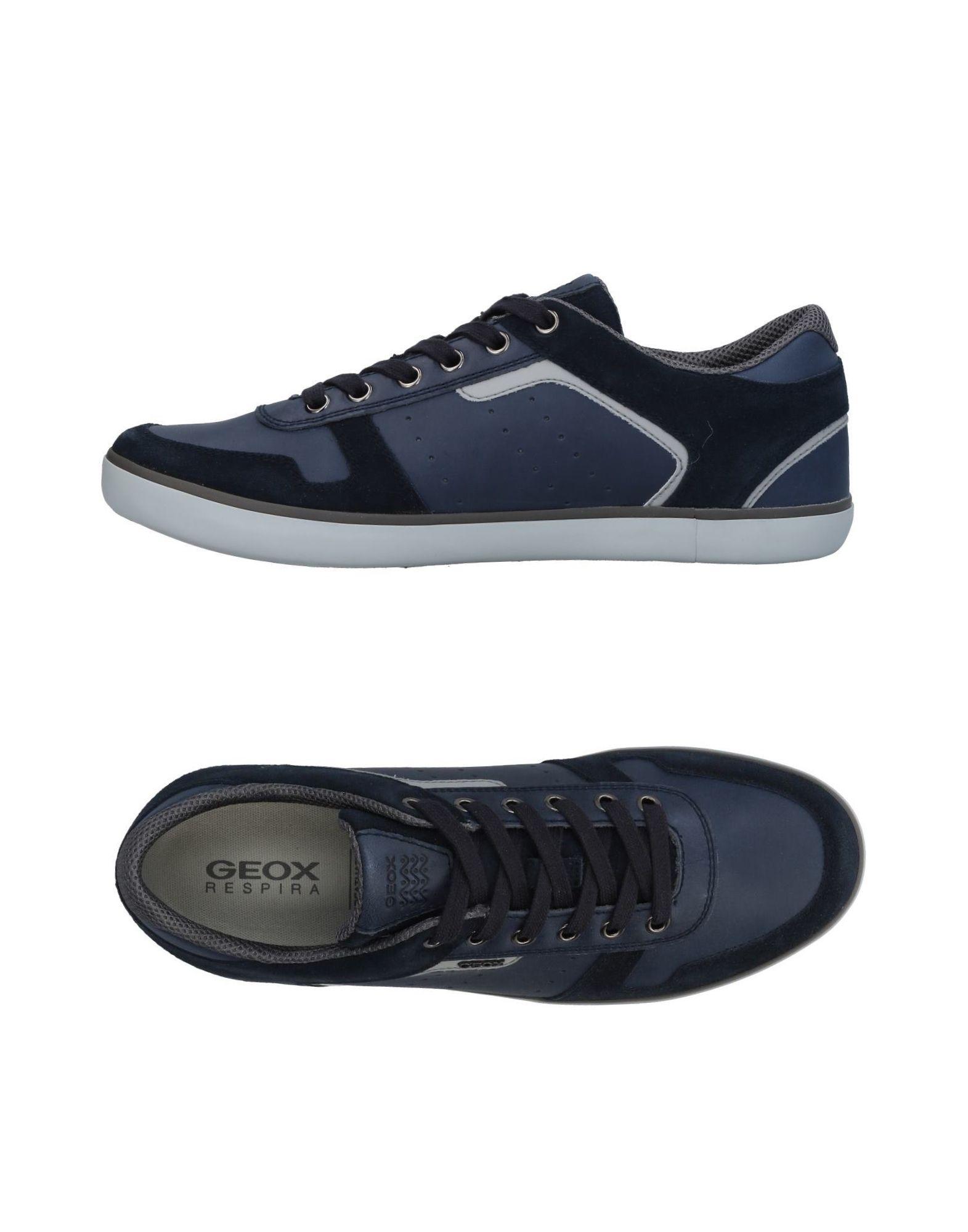 GEOX Herren Low Sneakers & Tennisschuhe Farbe Dunkelblau Größe 9 jetztbilligerkaufen