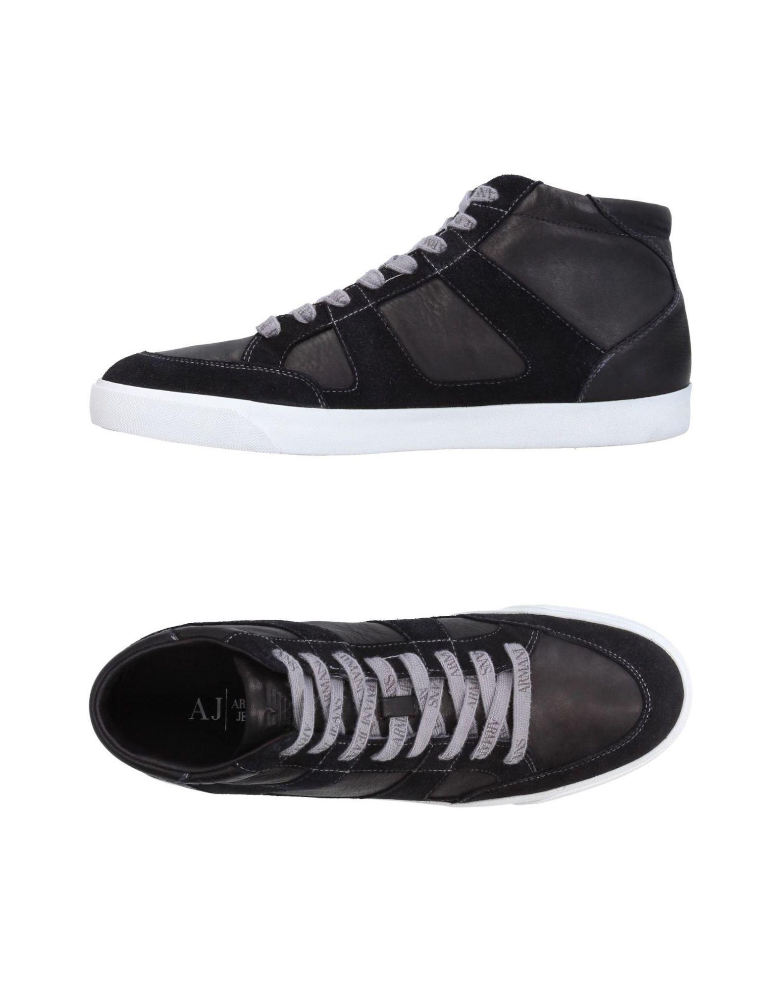 ARMANI JEANS Herren High Sneakers & Tennisschuhe Farbe Schwarz Größe 13 jetztbilligerkaufen