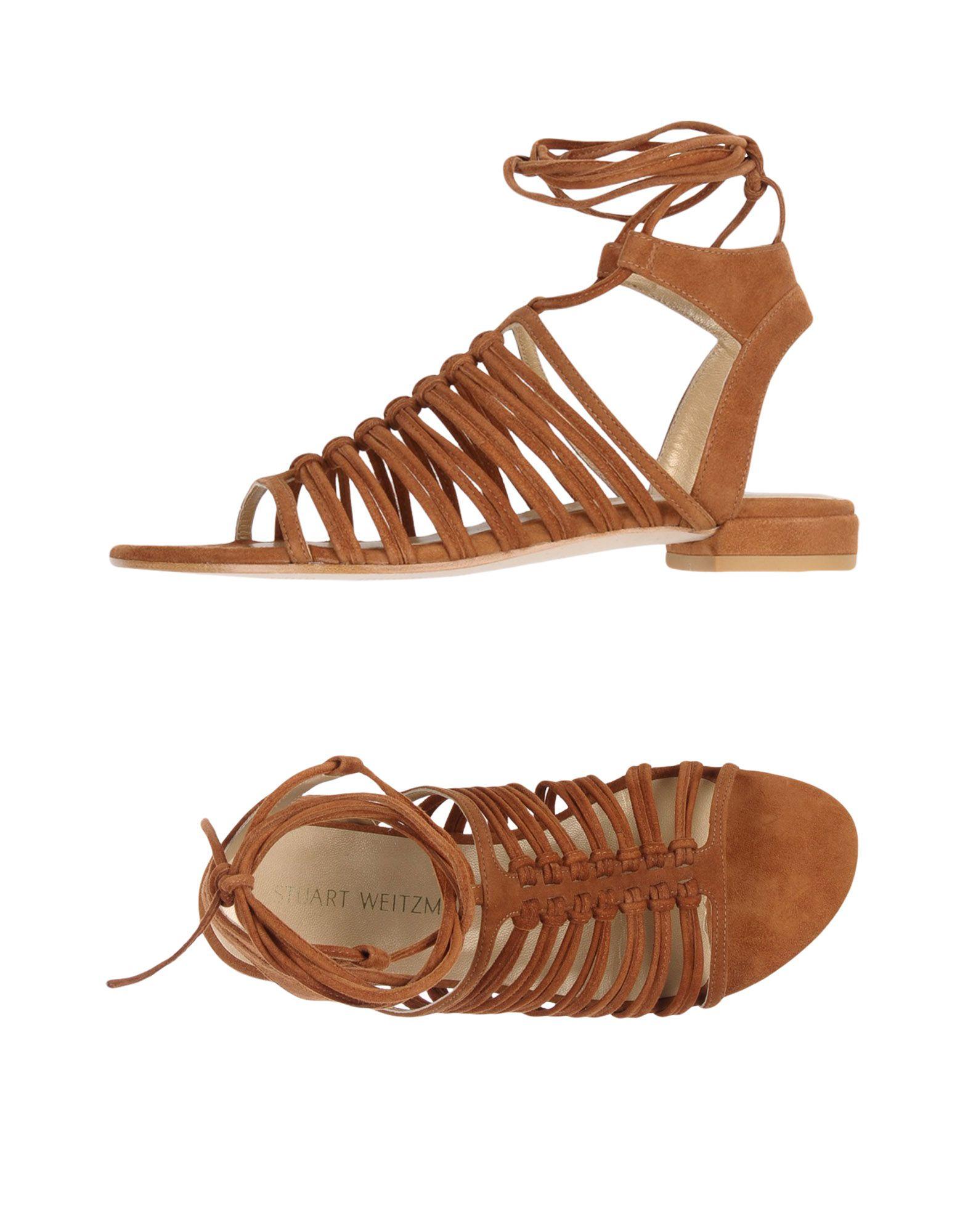 STUART WEITZMAN Damen Sandale Farbe Braun Größe 9 jetztbilligerkaufen