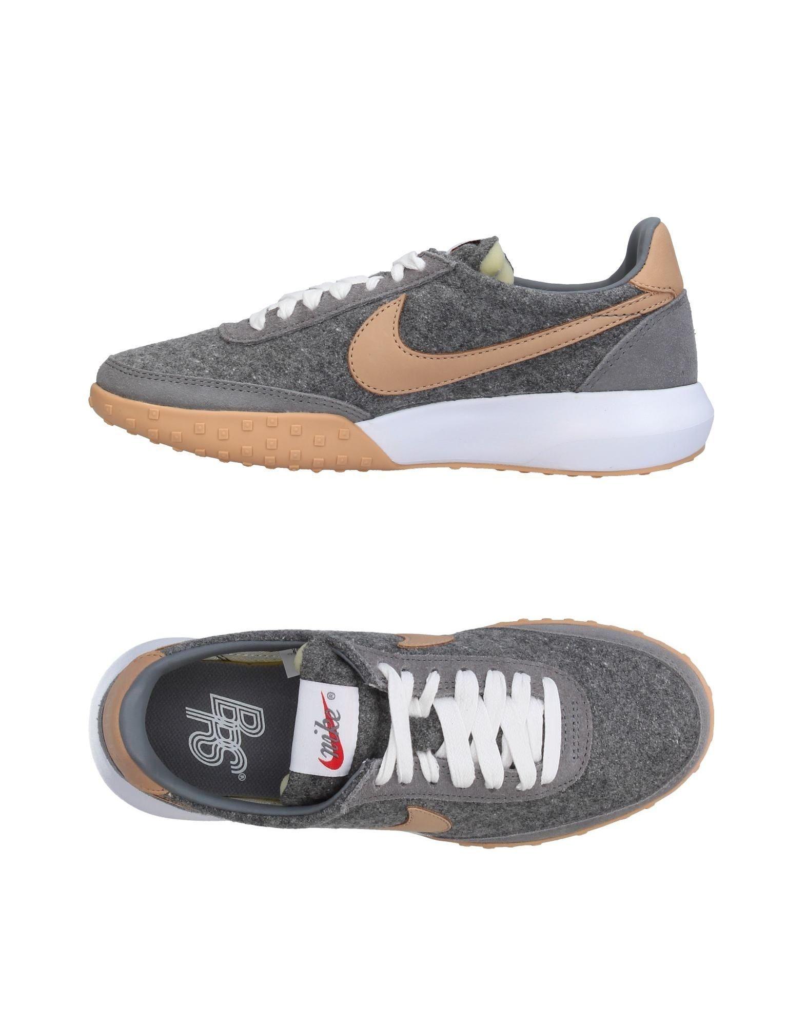 NIKE Damen Low Sneakers & Tennisschuhe Farbe Grau Größe 4 jetztbilligerkaufen