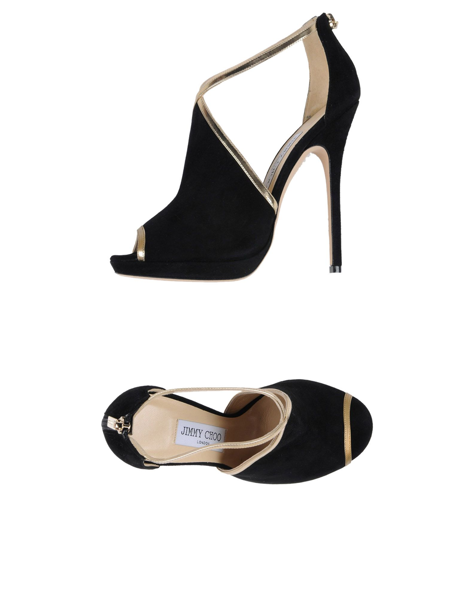 JIMMY CHOO Damen Sandale Farbe Schwarz Größe 8 jetztbilligerkaufen