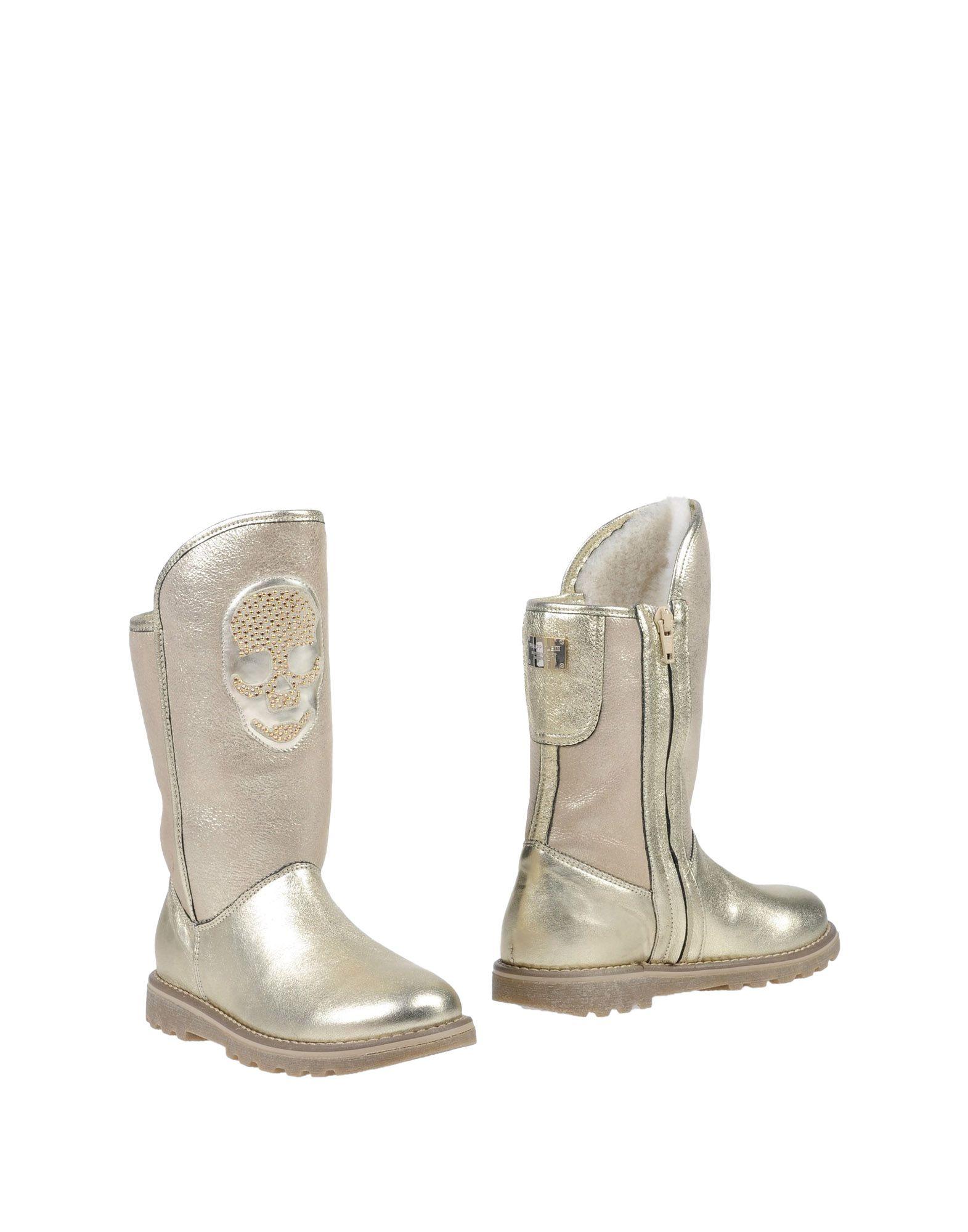 PHILIPP PLEIN Mädchen 3-8 jahre Stiefel Farbe Gold Größe 15 jetztbilligerkaufen
