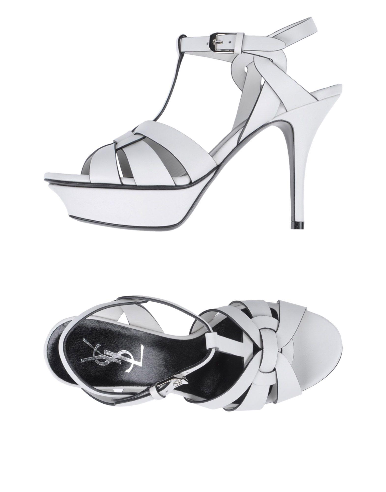 SAINT LAURENT Damen Sandale Farbe Weiß Größe 5 jetztbilligerkaufen