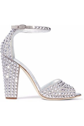 0ae70ab42806 GIUSEPPE ZANOTTI Lavinia crystal-embellished suede sandals ...