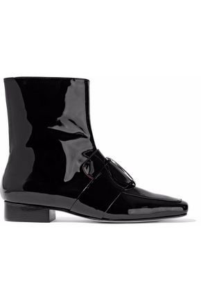 DORATEYMUR Buckle-embellished patent-leather ankle boots