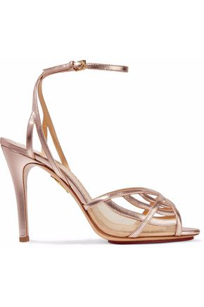 CHARLOTTE OLYMPIA Octavia metallic leather and mesh sandals