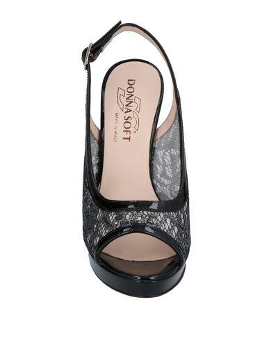 Фото 2 - Женские сандали DONNA SOFT черного цвета