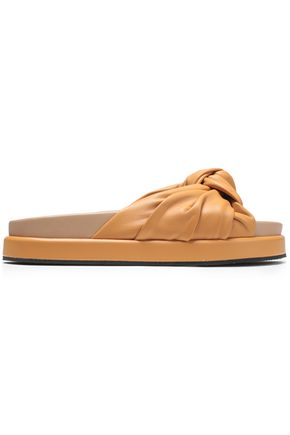 HELMUT LANG Knotted leather platform slides