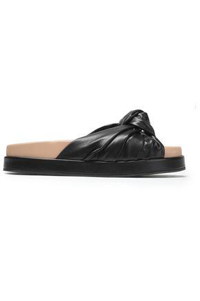 HELMUT LANG Knotted leather slides