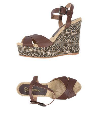 Фото - Женские сандали ESPADRILLES цвет какао