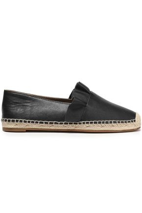 MICHAEL KORS COLLECTION Ruffle-trimmed leather espadrilles