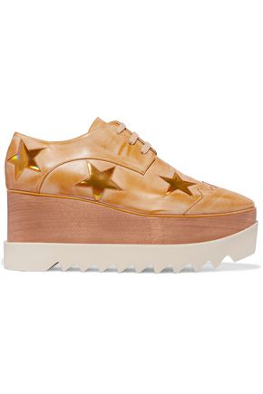 STELLA McCARTNEY Elyse faux leather platform brogues