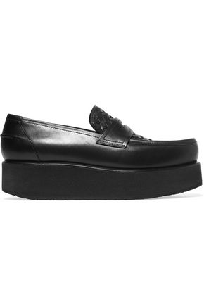 BOTTEGA VENETA Intrecciato leather platform loafers