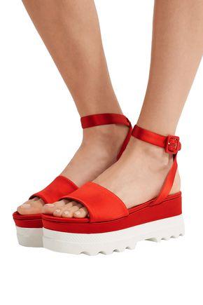 Miu Miu Logo Flatform Sandals TVEPFJjWO