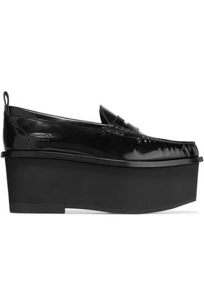 GIVENCHY Platform loafers in black patent-leather