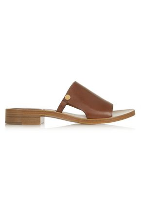 CHLOÉ Cutout leather slides