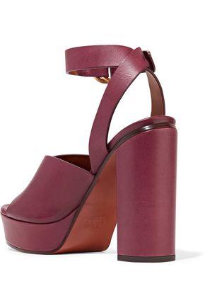 ... CHLOÉ Leather platform sandals