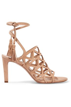 CHLOÉ Cutout suede sandals