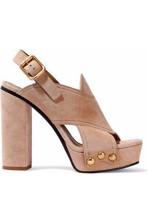 CHLOÉ Cutout suede platform sandals