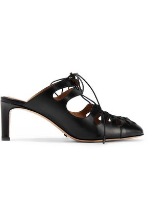 THE ROW Dixie lace-up leather mules