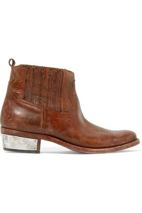 GOLDEN GOOSE DELUXE BRAND Crosby distressed leather ankle boots