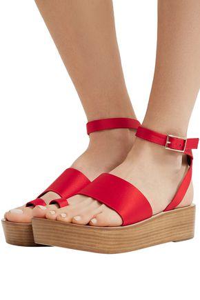 d2ac1eba554 TIBI Janie satin platform sandals  TIBI Janie satin platform sandals ...