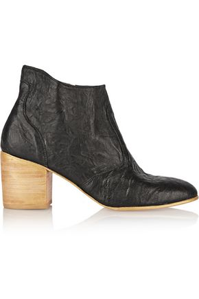 ESQUÍVEL Jill wrinkled-leather ankle boots