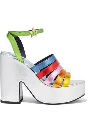 MR by MAN REPELLER Lol If You Think I'm Walking embellished velvet platform sandals