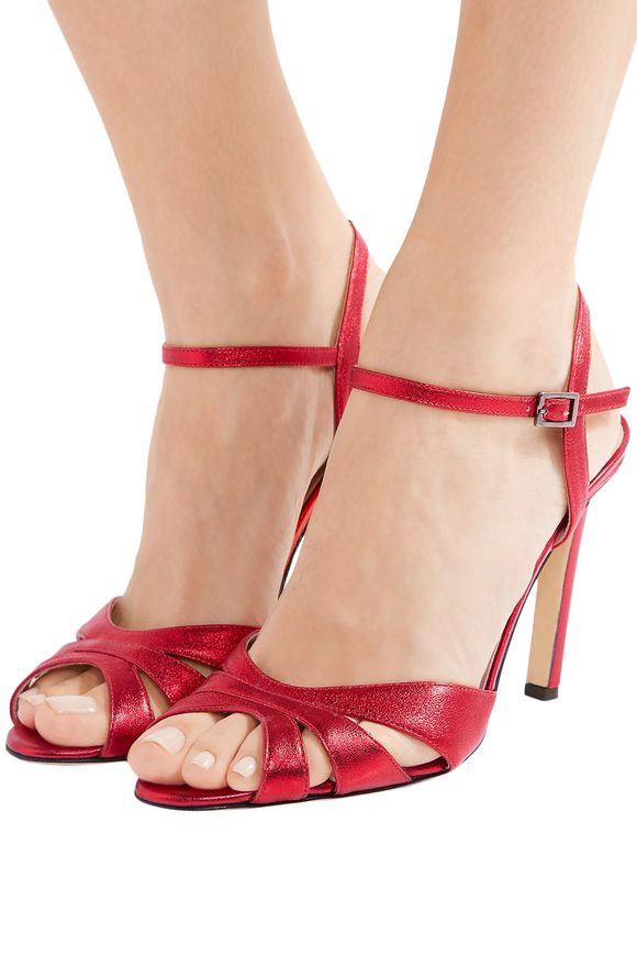 Westminster cutout metallic leather sandals | SJP by SARAH JESSICA PARKER | Sale  up to 70% off | THE OUTNET